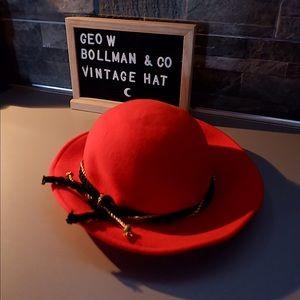 VINTAGE AUTHENTIC GEO W. BOLLMAN WOOL HAT 💛